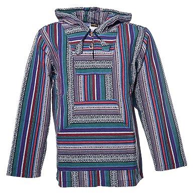 Kunst und Magie Herren Nepal Baja Hoodie Pullover Sweatshirt Poncho   Amazon.de  Bekleidung 1c7be9ce2f