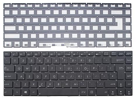 Para portátil de repuesto teclado retroiluminado (sin marco) para Asus R401 r401jv R401VB r401vj