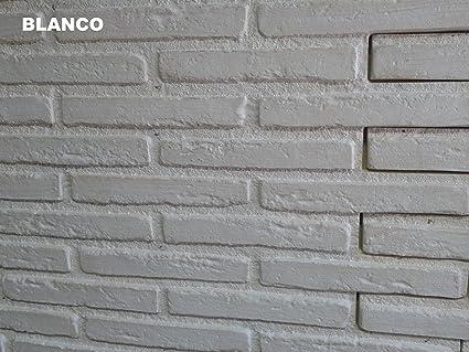 Polima Panel ladrillo Decorativo de Poliuretano, Blanco, Medidas Ancho 103 Alto 88 Grueso 3