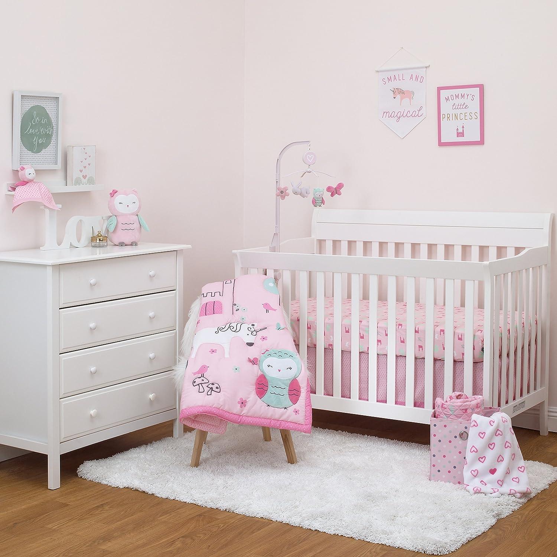 Child of Mine byカーターのプリンセス3個入りベビーベッド寝具セット – ユニコーン – フクロウ – Baby Girl   B075L7GQYH
