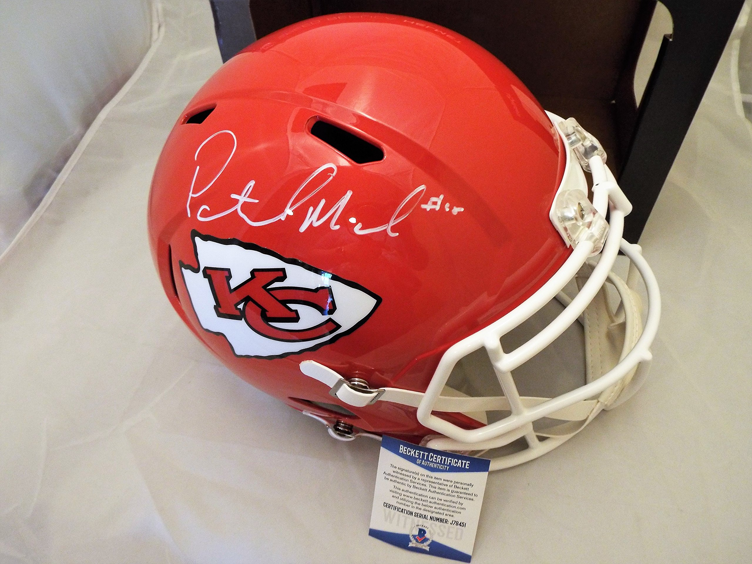 Patrick Mahomes Autographed/Signed Full Size Speed Chiefs Helmet Beckett COA