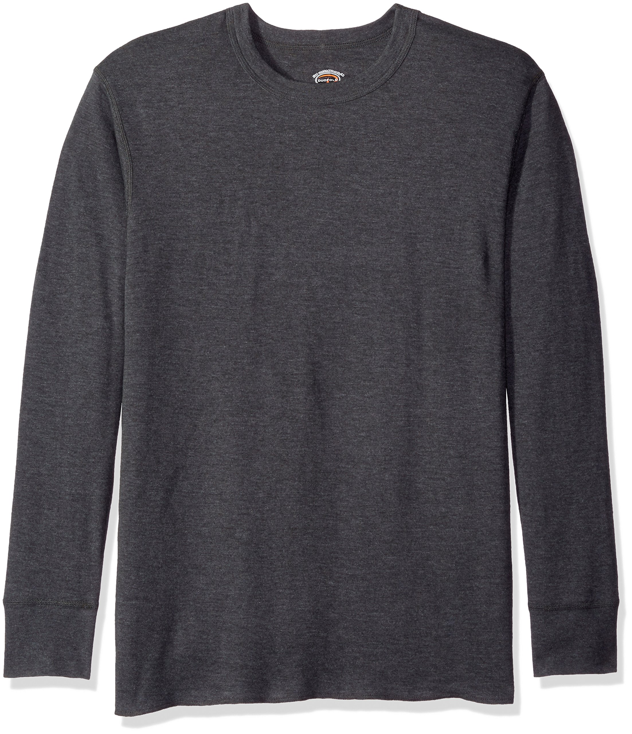 Duofold Men's Mid Weight Wicking Thermal Shirt, Granite Heather, L by Duofold