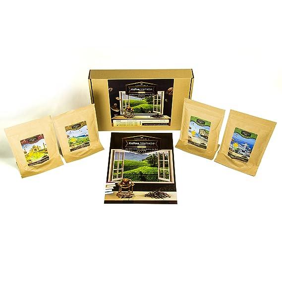 Caja de regalo de café para bebedores de café (4x7 tazas) | Viaje mundial