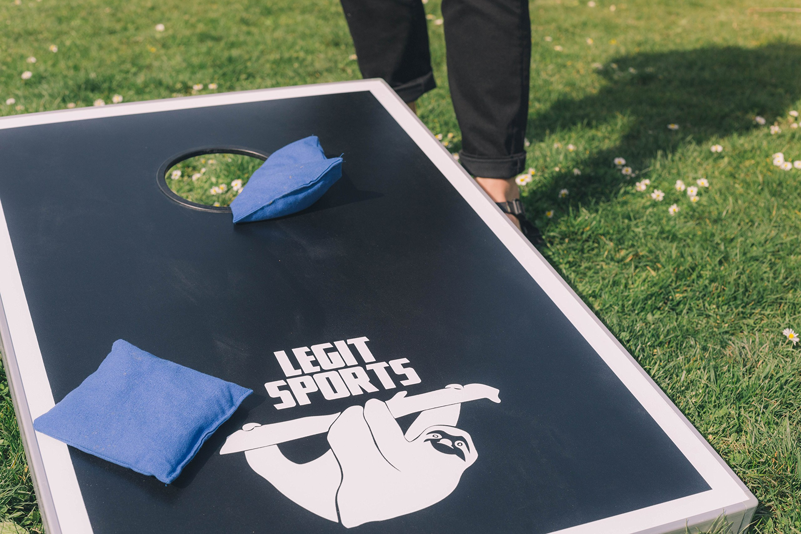 Cornhole Boards with Aluminum Frame by Legit Sports | Bean Bag Toss Corn Hole Outdoor Game with Weighted Bean Bags | Lightweight and Durable Materials | Great for Travel, Camping, Parties by Legit Camping (Image #2)