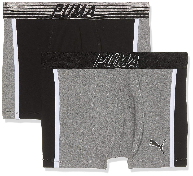 PUMA Bold Cat Boxer 2p Culotte, (Grey/Black 235), L (Talla de ...