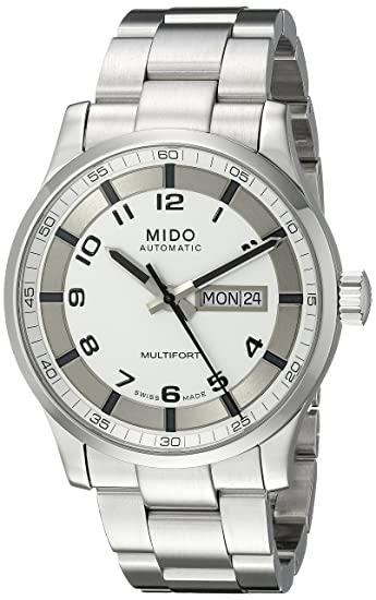 Mido M005.430.11.032.80 - Reloj Analógico Para Hombre, color Blanco/Gris