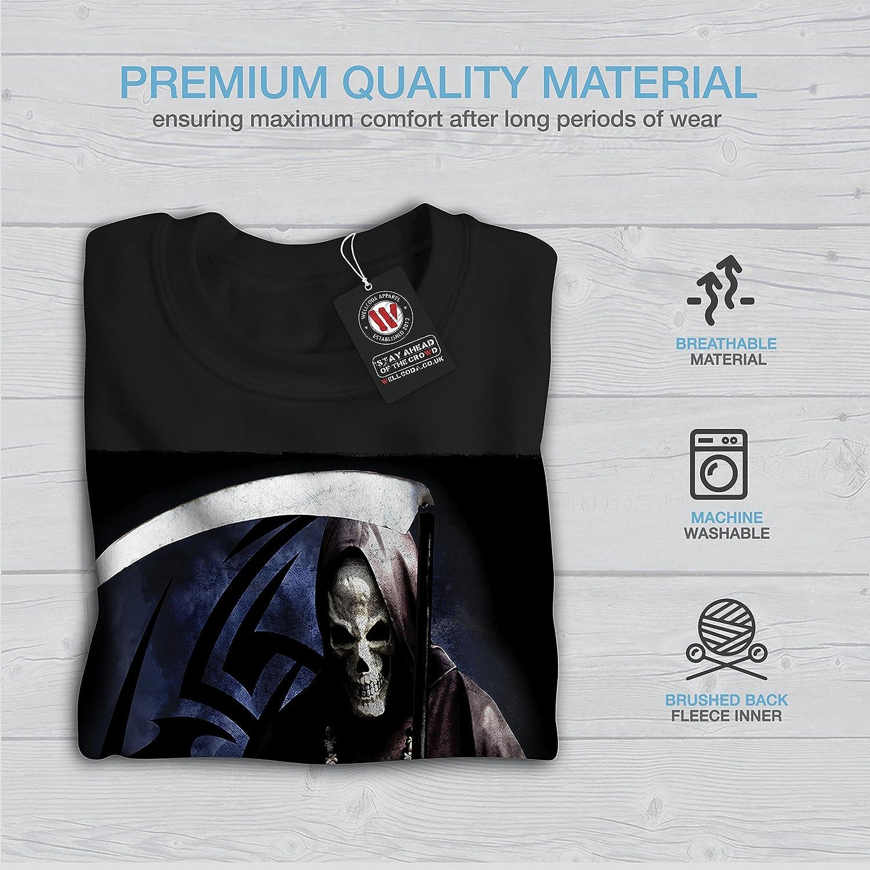 wellcoda Grim Reaper Death Kill Mens Sweatshirt Crazy Casual Jumper