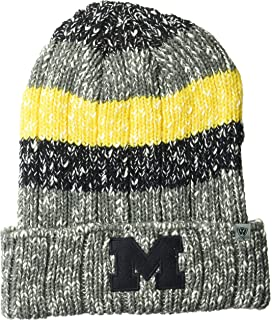 47 NCAA Michigan Wolverines Orca Sherpa Knit Beanie One Size Navy