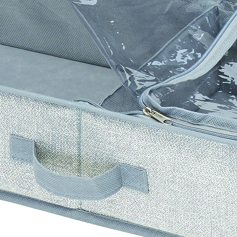 OVsler Aufbewahrungstasche Bettkasten Aufbewahrung Unterbettbox Kleideraufbewahrung Unterbett Aufbewahrungstasche Unterbett Aufbewahrung Aufbewahrungstasche F/üR Bettdecken Und Kissen 1,m