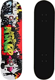 MammyGol Standard Skateboards 31''x 8'' Complete Skateboard Cruiser 9 Layer Canadian Maple Double Kick Concave Standard and