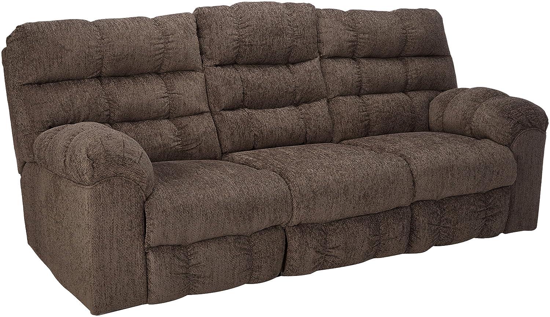 Ashley Furniture Signature Design Acieona Reclining Sofa With Drop Down Table Slate