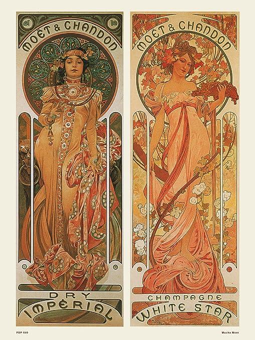 Amazon.com OnTheWall Art Nouveau Poster Art Print by