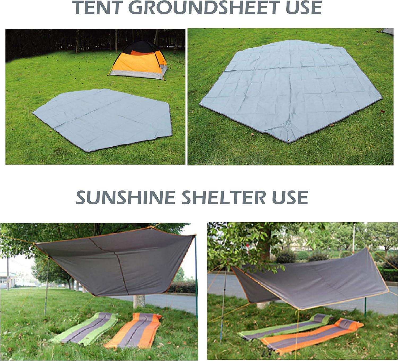 Waterproof Camping Picnic Pad Mat Tent Tarp Rain Sun Shade Hammock Shelter  Fast