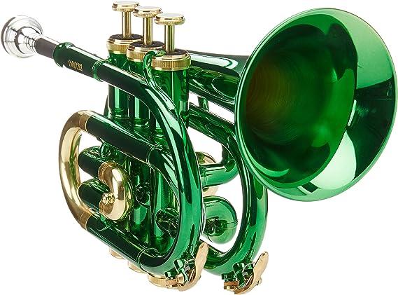 Roy Benson RB701008 - Trompeta Pocket, estuche ligero rectangular, color verde: Amazon.es: Instrumentos musicales