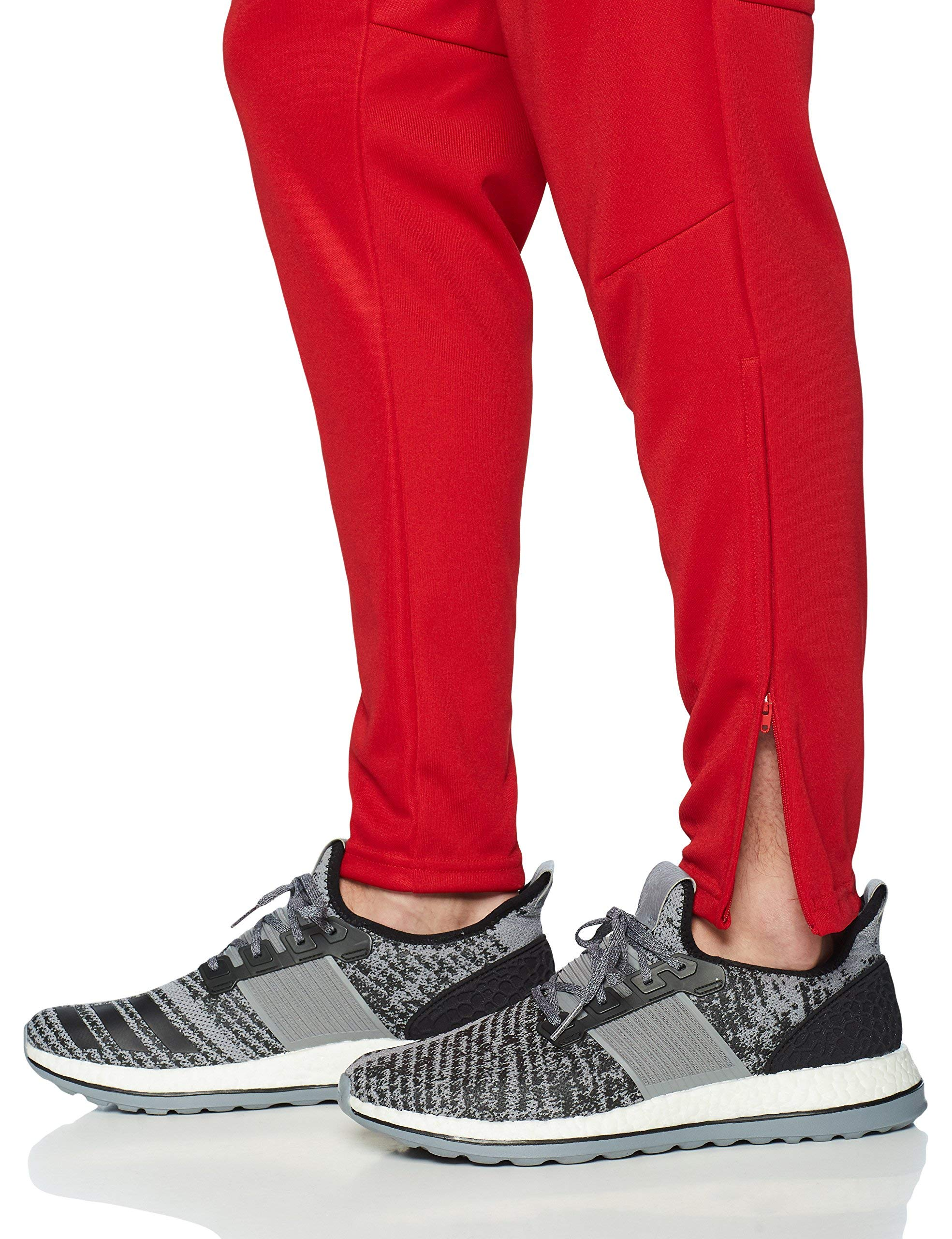 adidas Men's Soccer Tiro 17 Pants, Small, Power Red/White by adidas (Image #4)