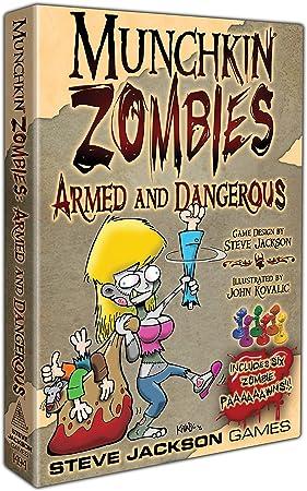 Steve Jackson Games sjg01494 – Juego de Cartas Munchkin Zombies: Armed and Dangerous: Amazon.es: Juguetes y juegos