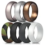 Amazon Price History for:ThunderFit Silicone Rings, 7 Pack Wedding Bands for Men - 8.7 mm wide