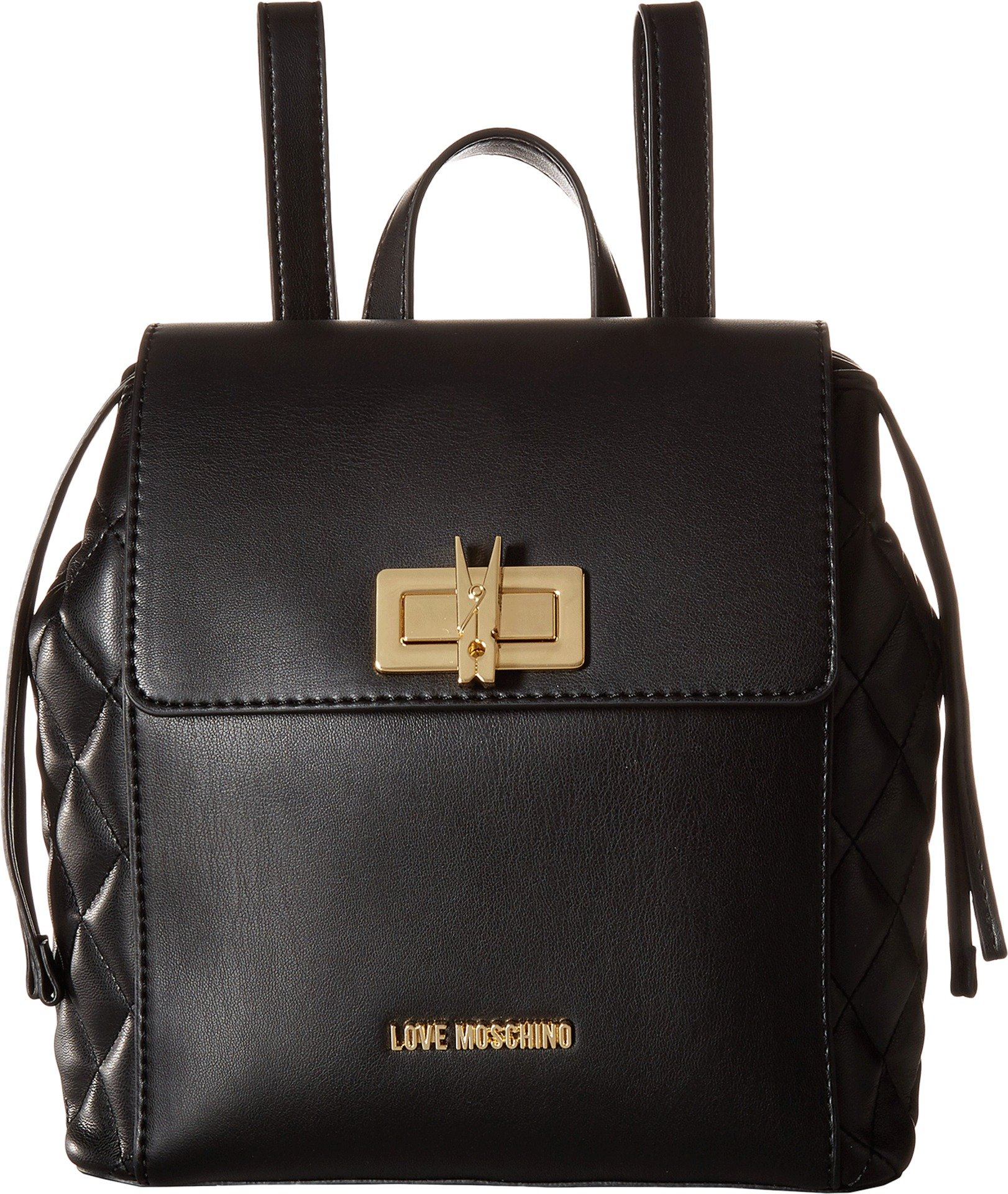 LOVE Moschino Women's Fashion Quilted Backpack Black One Size