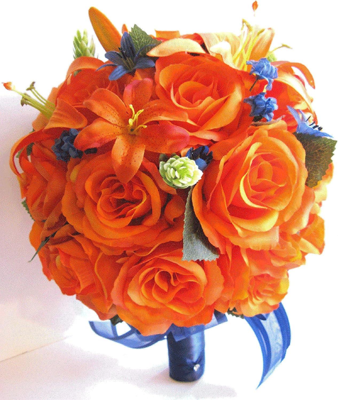 Amazon Com Wedding Bouquet 17 Piece Bridal Bouquet Set Wedding