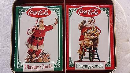 COCA-COLA NOSTALGIA PLAYING CARDS with COLLECTIBLE TIN