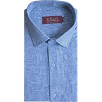 Reverence-Men's Half Sleeve Cotton Linen Starch Shirt, Regular Fit, Nykra