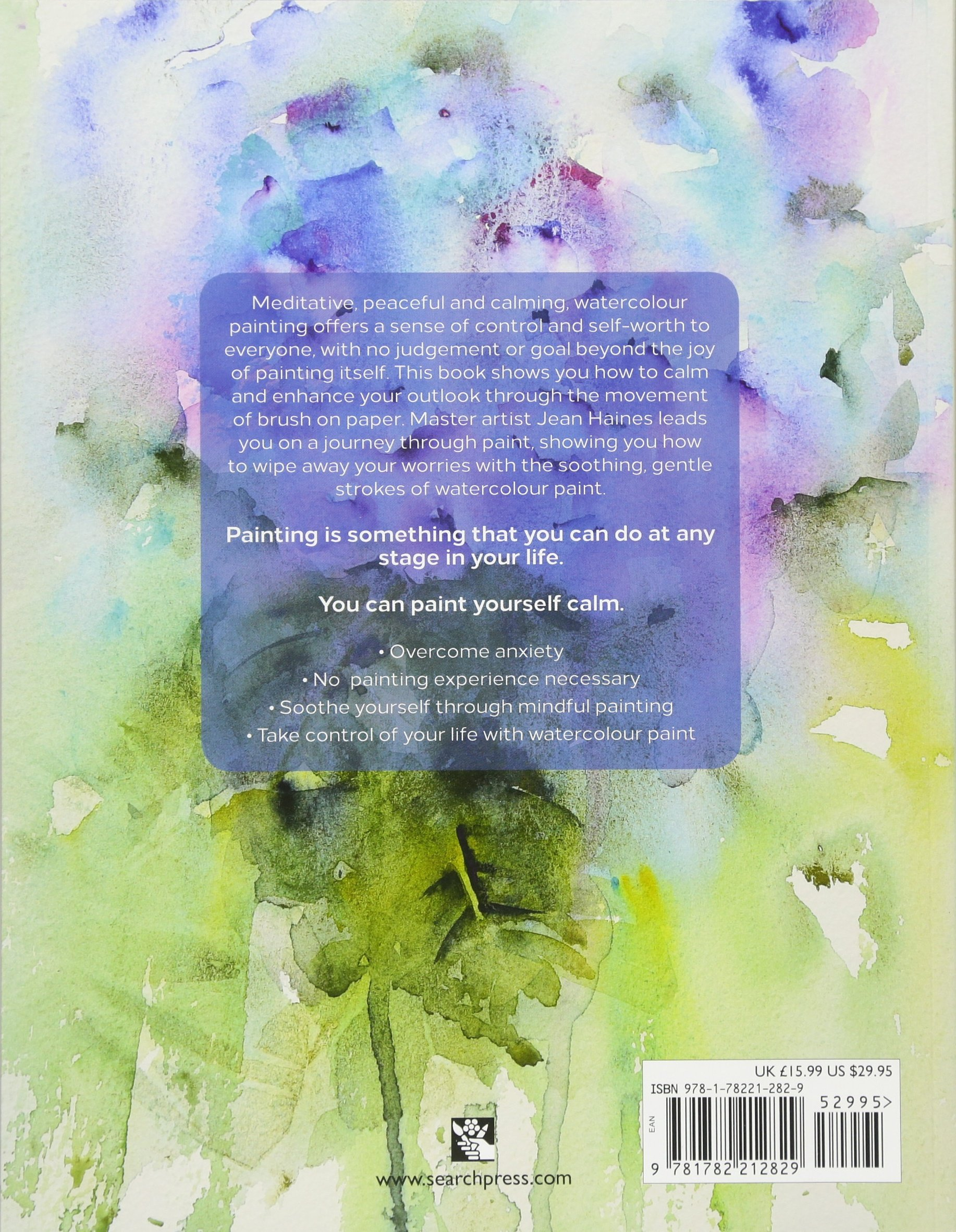 Watercolor books amazon - Amazon Com Jean Haines Paint Yourself Calm Colourful Creative Mindfulness Through Watercolour 9781782212829 Jean Haines Books