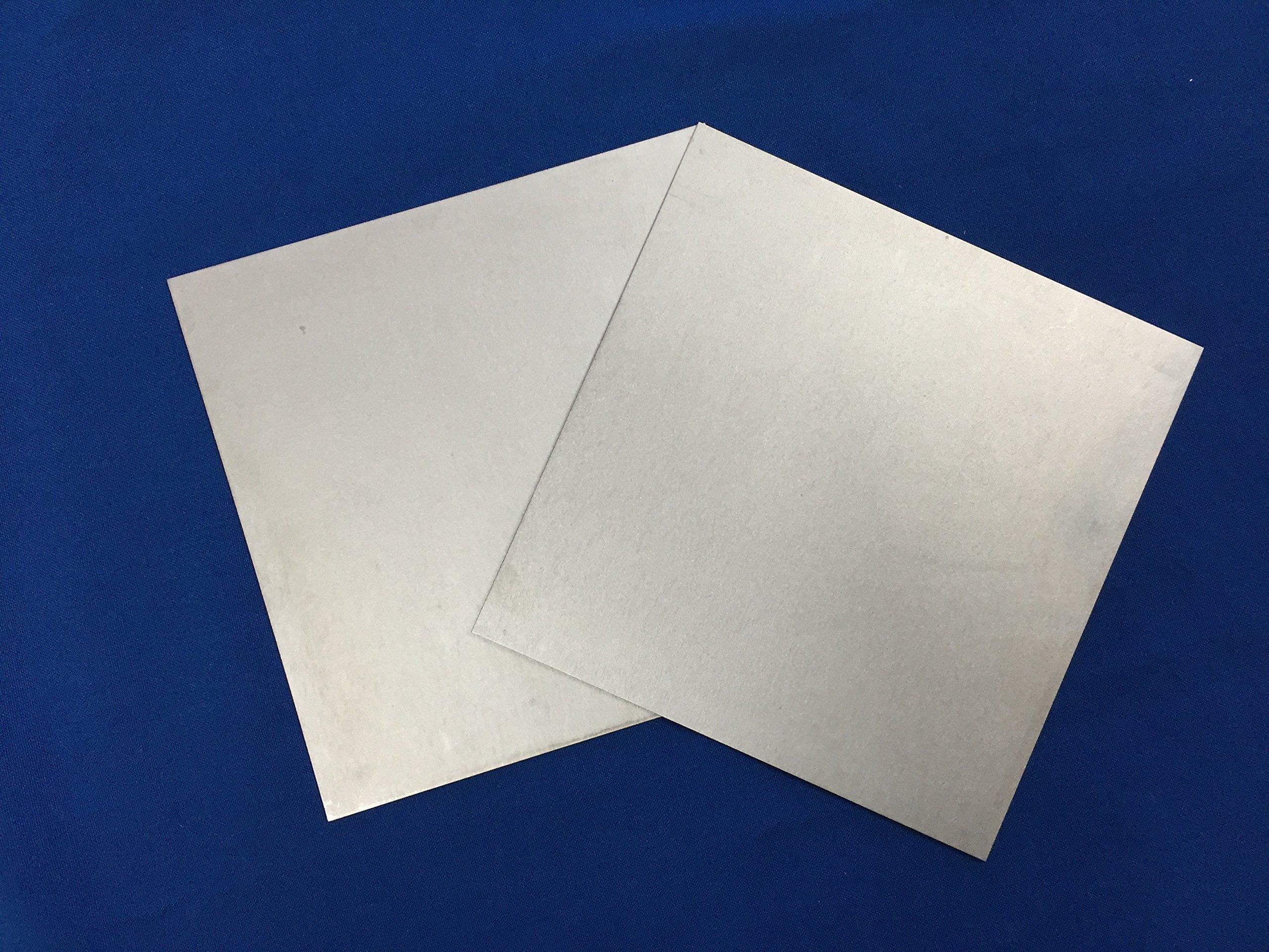 "Tungsten Sheet/Plate 6""x6""x0.02"", Unpolished"