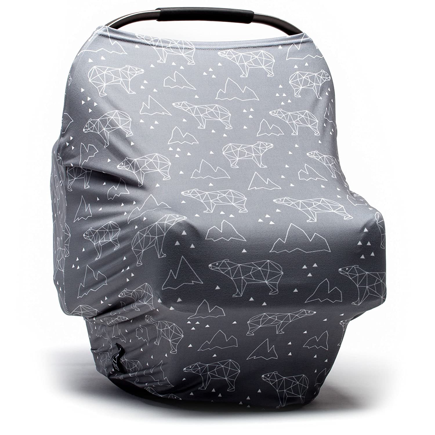 Baby Car Seat Cover - Nursing Cover - Stroller Carseat Canopy Cover for Girls and Boys - Infant Car Seat Cover for Babies - Infinity Stretchy Breastfeeding Cover(Arctic Bears) Moody Park