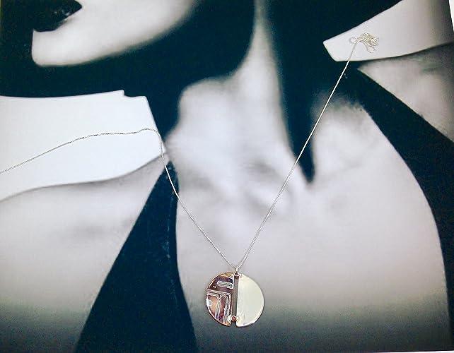 Amazon handmade mokume gane pendant with chocolate cubic handmade mokume gane pendant with chocolate cubic zirconium aloadofball Gallery