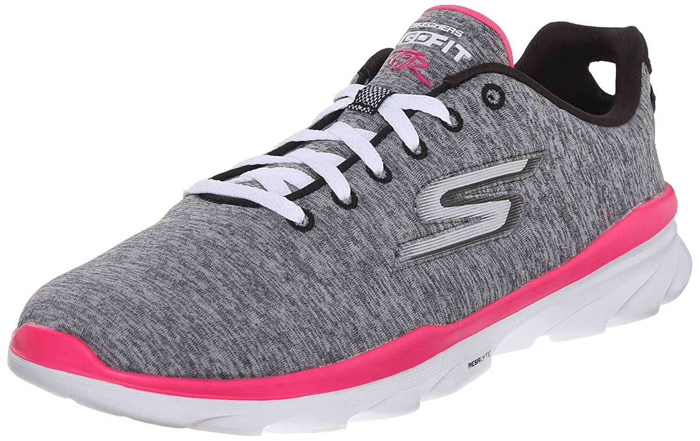 Skechers GO FIT TR Stellar  38 EU|Gray Textile/ Hot Pink Trim