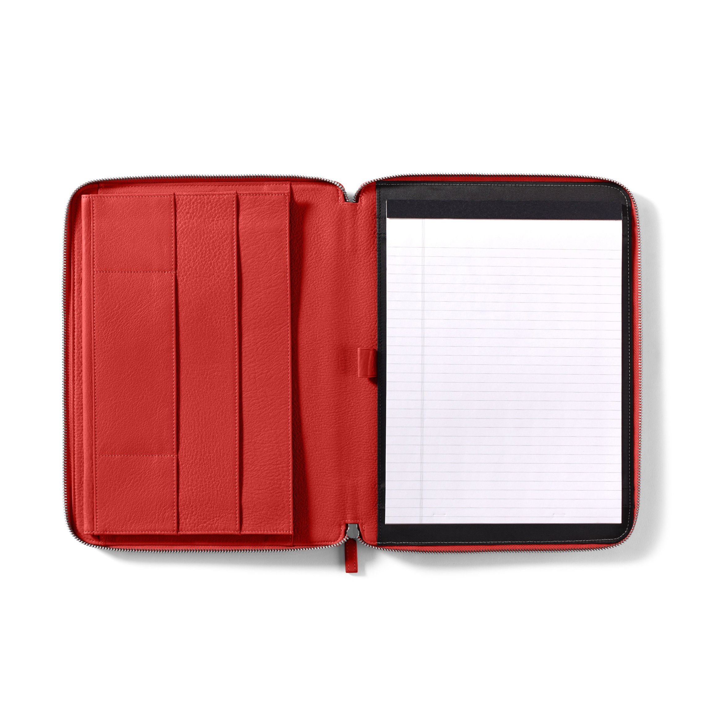 ipad portfolio - Full Grain Leather Leather - Scarlet (red)