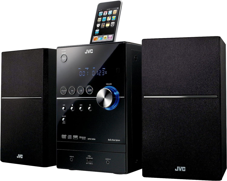 JVC UX-SG7VBE - Microcadena con puerto dock (CD, RDS, MP3), negro ...