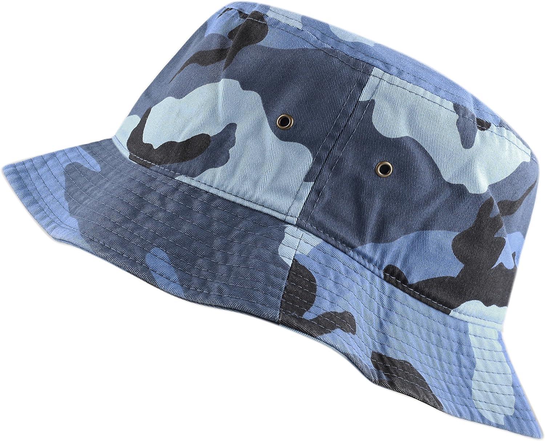 The Hat Depot 300N Unisex 100% Cotton Packable Summer Travel Bucket Beach Sun Hat