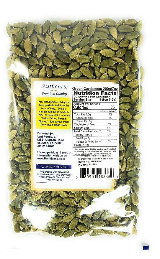 Rani Cardamomo verde Peso neto. 7 oz (200 g): Amazon.es: Alimentación y bebidas