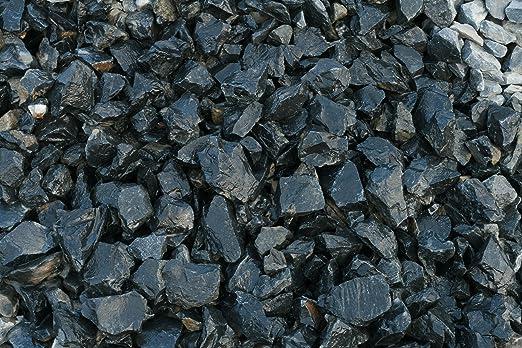 Piedra negra jardin (1000 kg, 24-40 mm): Amazon.es: Jardín
