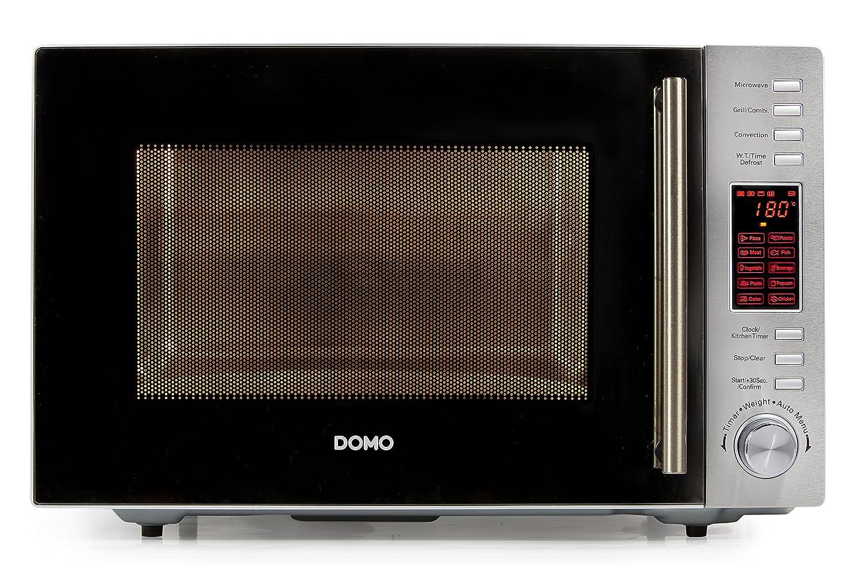 Domo 3-in-1 Microwave Oven, 30 Litre, Silver DO 2330 CG DO2330CG_-