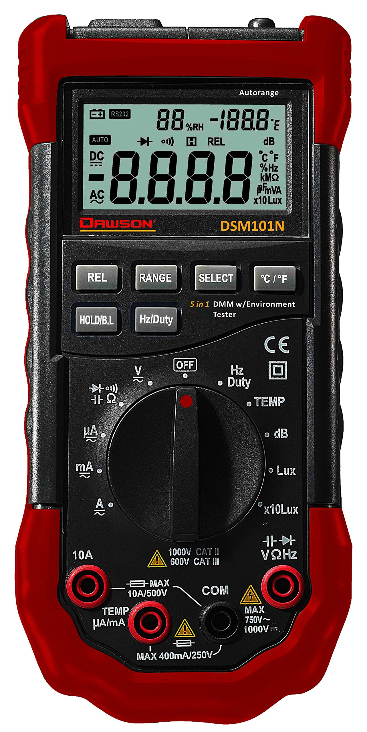 Dawson Tools DSM101N Digital Multimeter with Environmental Tester