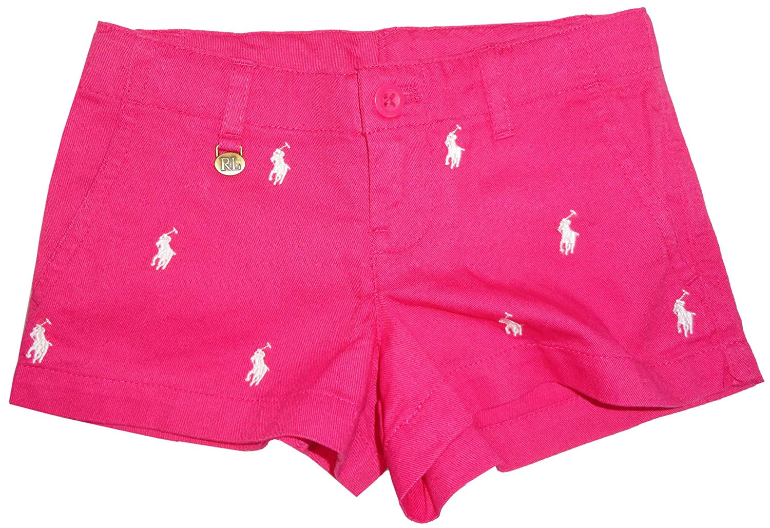 Polo Ralph Lauren Girls All Over Pony Shorts Ultra Pink