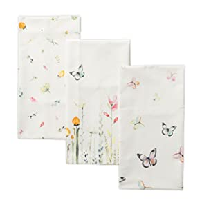 Maison d' Hermine Botanical Fresh 100% Cotton Set of 3 Kitchen Towels 20 Inch by 27.50 Inch
