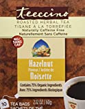 Teeccino Hazelnut Flavoured Herbal Coffee, 10 Count