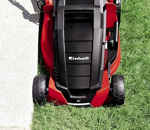 Einhell GE- EM 1843 HW - Cortacésped eléctrico (1800W, altura de corte 6 niveles | 25-75 mm , ancho de corte 43 cm, hasta 800m² de jardín, 63L de ...