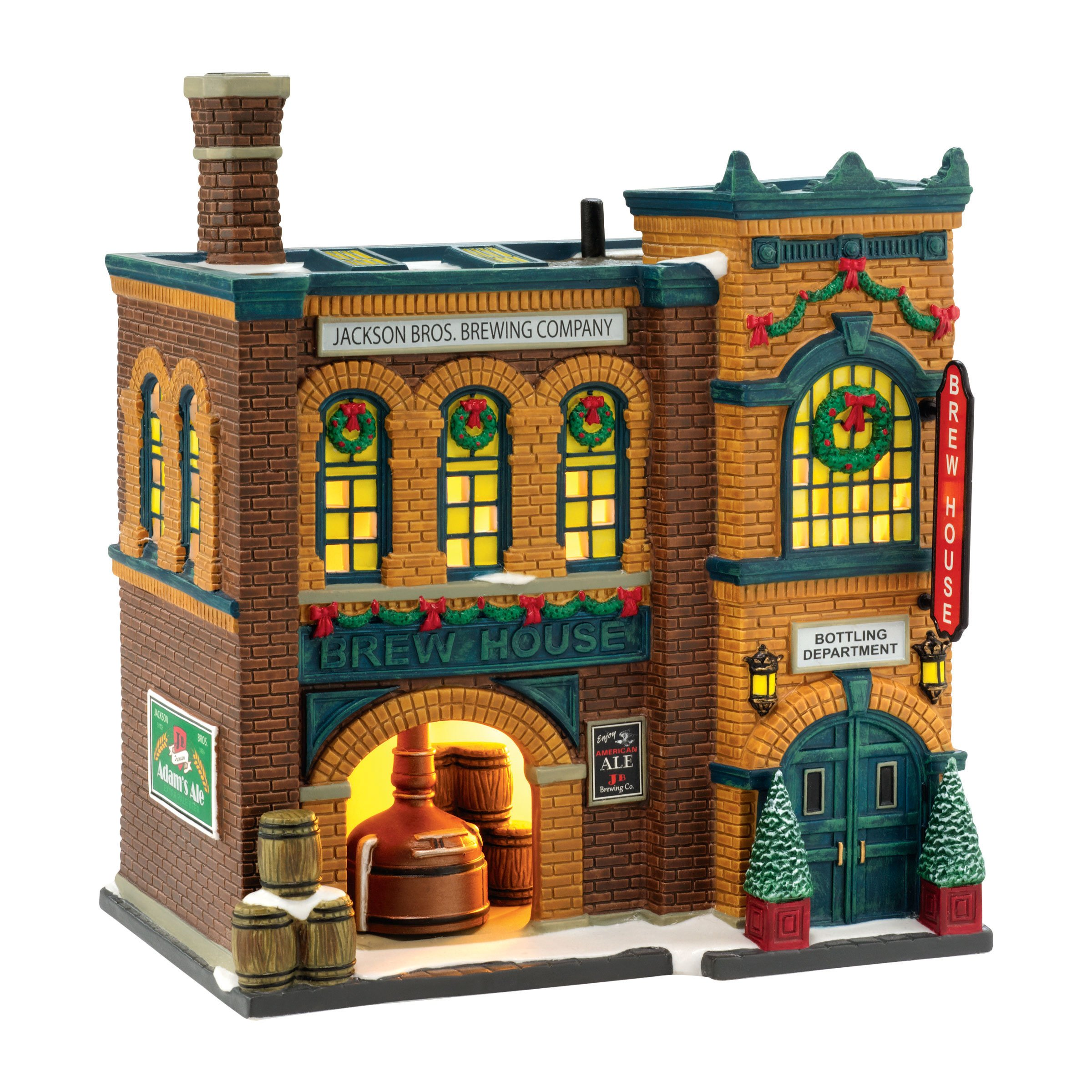 Department 56 Christmas in the City Village Brew House Lit House, 8.11 inch