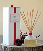 Manu Home Holiday Cranberry & Woods Reed Diffuser Set~ Made with