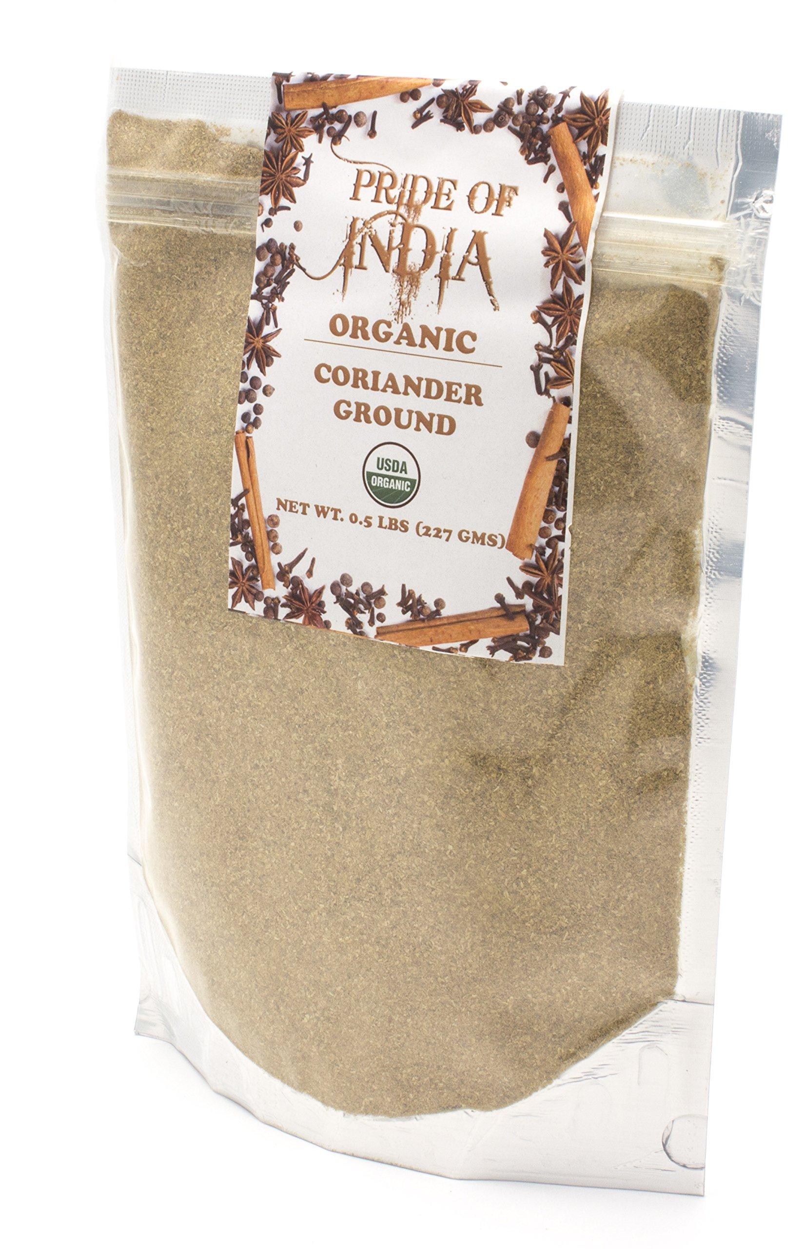 Pride Of India - Organic Coriander Ground, Half Pound
