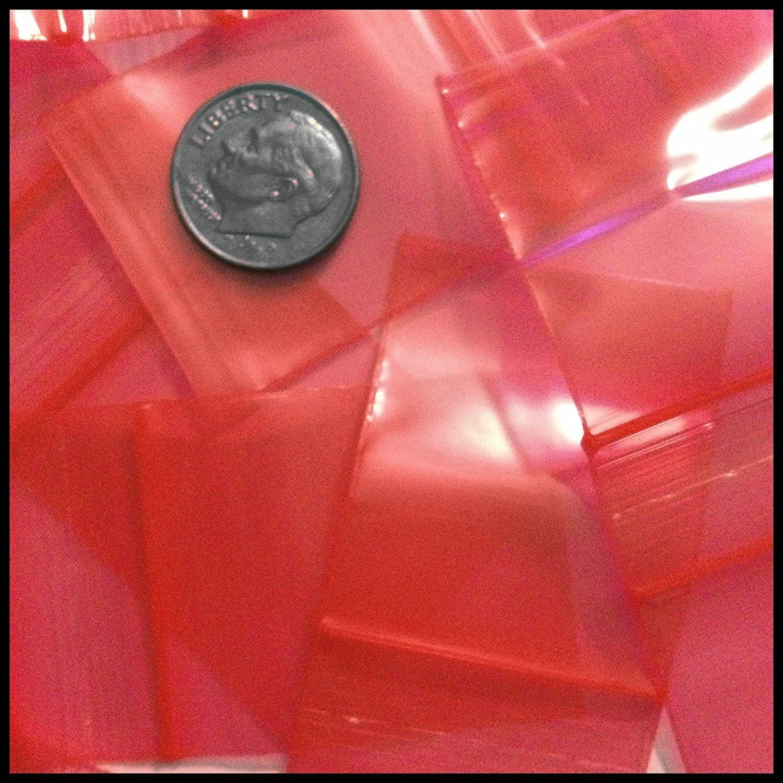1000-3 x 4 Clear 2 mil Plastic Ziplock Baggies Blue Tone