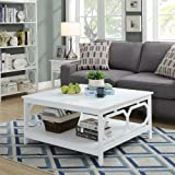 "Convenience Concepts Omega Square 36"" Coffee Table, White"