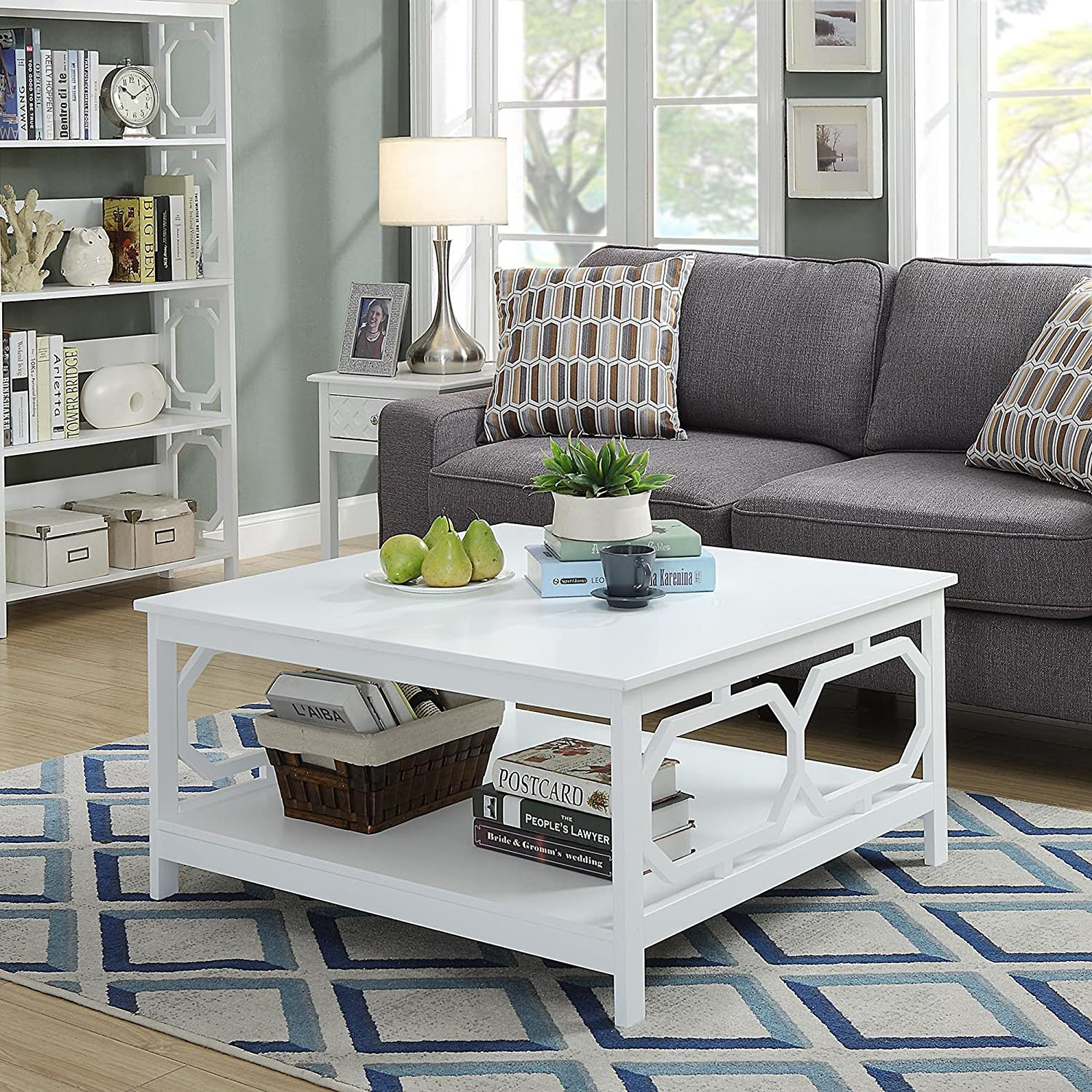 "Amazon Convenience Concepts Oxford 36"" Square Coffee Table"