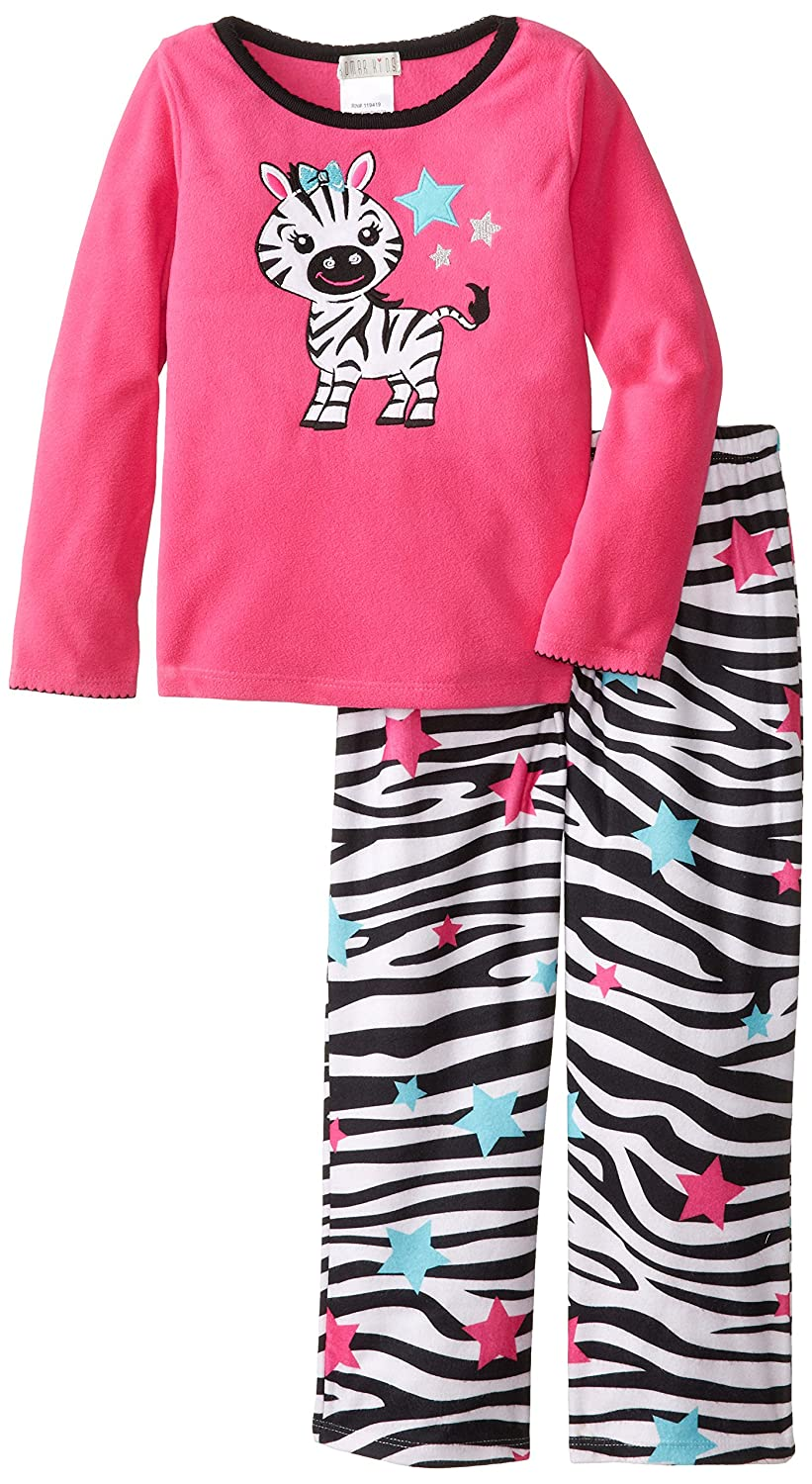 Amazon.com: Komar Kids Big Girls Zebra Fleece Pajama Set, Pink, X-Small: Clothing