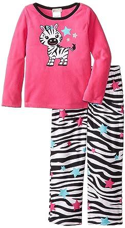 Amazon.com: Komar Kids Big Girls' Zebra Fleece Pajama Set: Clothing