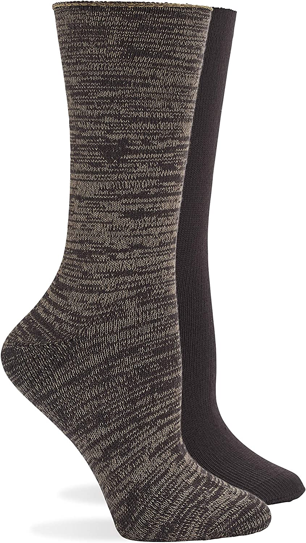 HUE womens Super Soft Roll Top Boot Sock 2 Pair Pack